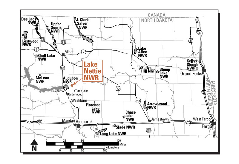 Lake Nettie National Wildlife Refuge exploration map