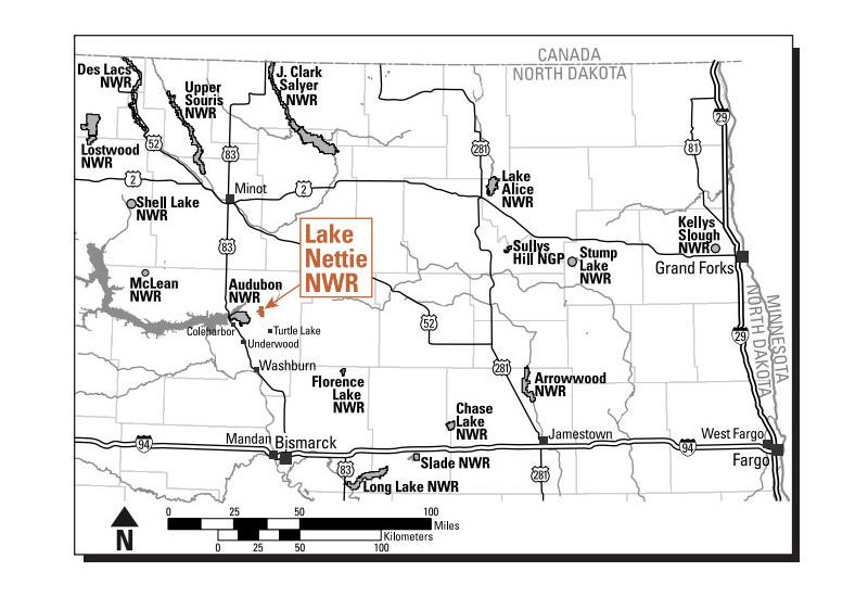 Lake Nettie National Wildlife Refuge exploration map